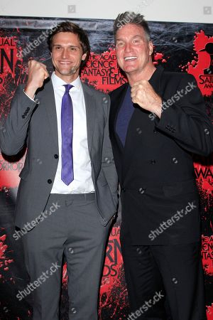 Hartley Sawyer, Sam J Jones in the press room at the 44th Annual Saturn Awards held at The Castaway in Burbank, California, USA, 27 June 2018 (issued 28 June). The Saturn Awards honors the best in science fiction, fantasy, horror and other genres in film, television, home media releases, and theatre.