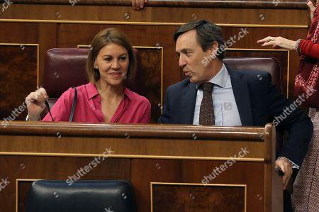 Maria Dolores de Cospedal and Rafael Hernando