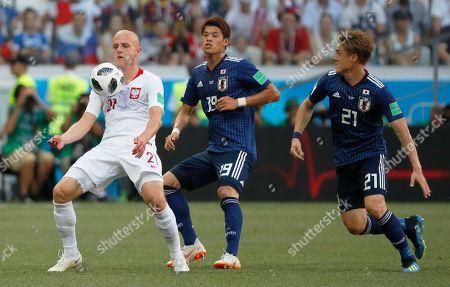 Rafal Kurzawa of Poland and Hiroki Sakai of Japan