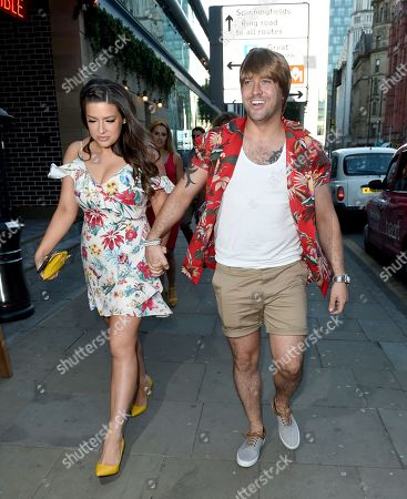 Catherine Tyldesley leaving party.  Shayne Ward and Sophie Austin arrive.