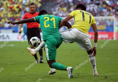 Lamine Gassama of Senegal and Johan Mojica of Colombia