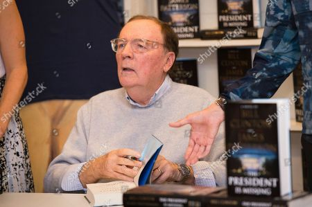 "James Patterson sign copies of ""The President is Missing"" at Book Revue, in Huntington, NY"