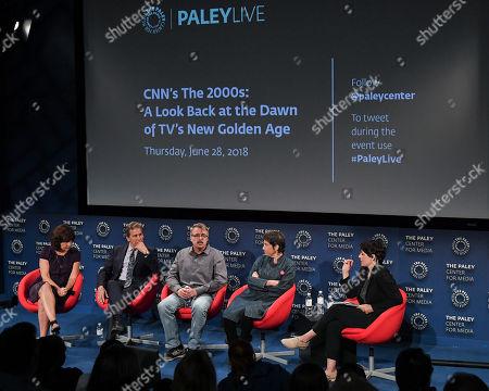 Kim Masters, Tim Matheson, Vince Gilligan, Carolyn Strauss and Stacy Wilson Hunt