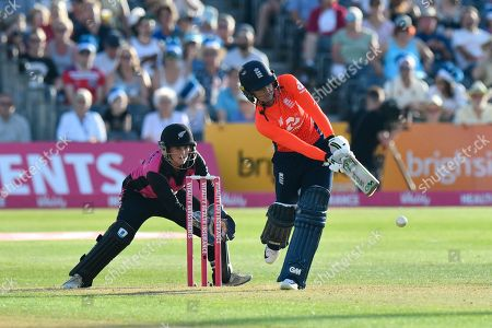 Sarah Taylor of England batting during the International T20 match between England Women Cricket and New Zealand at the Bristol County Ground, Bristol. Picture by Graham Hunt