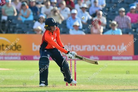 Sarah Taylor of England plays a ramp shot during the International T20 match between England Women Cricket and New Zealand at the Bristol County Ground, Bristol. Picture by Graham Hunt