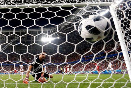 Stock Photo of Goalkeeper Aymen Mathlouthi of Tunisia