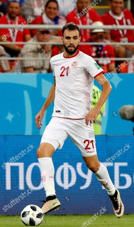 Hamdi Nagguez of Tunisia in action during the FIFA World Cup 2018 group G preliminary round soccer match between Panama and Tunisia in Saransk, Russia, 28 June 2018.