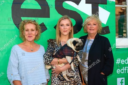 Vanessa Davies, Beattie Edmondson, Mandie Fletcher and 'Harley'
