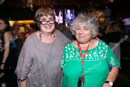Jenni Murray and Miriam Margolyes