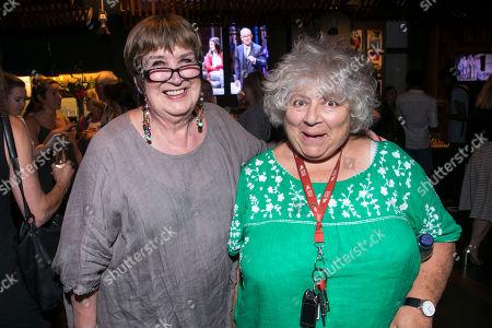 Stock Image of Jenni Murray and Miriam Margolyes