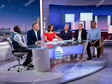 Daliso Chaponda, Piers Morgan, Susanna Reid, Ed Balls, Harry Redknapp and James Cleverly