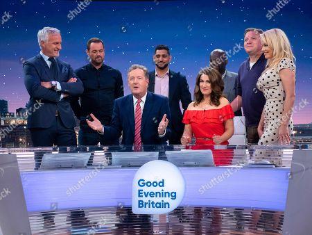 David Ginola, Danny Dyer, Piers Morgan, Amir Khan, Susanna Reid, Daliso Chaponda, Ed Balls and Pamela Anderson