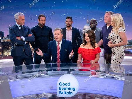 Stock Photo of David Ginola, Danny Dyer, Piers Morgan, Amir Khan, Susanna Reid, Daliso Chaponda, Ed Balls and Pamela Anderson