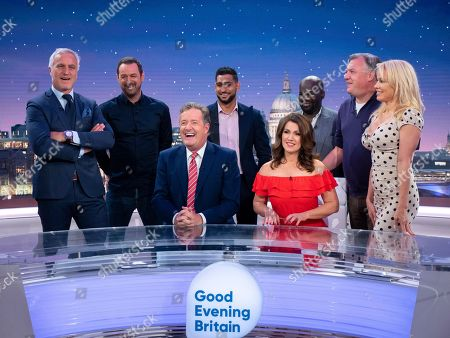 Stock Image of David Ginola, Danny Dyer, Piers Morgan, Amir Khan, Susanna Reid, Daliso Chaponda, Ed Balls and Pamela Anderson