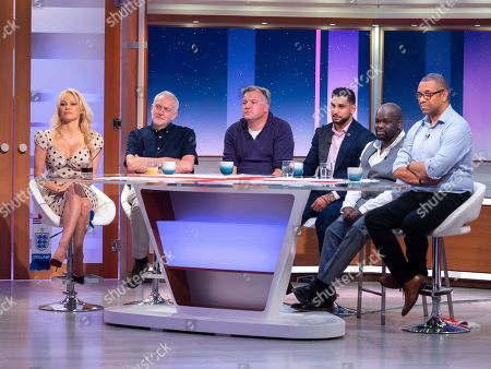 Pamela Anderson, Jeremy Corbyn, Ed Balls, Amir Khan, Daliso Chaponda and James Cleverly
