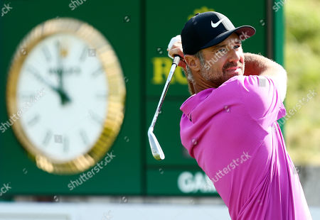 Trevor Immelman of South Africa during his round.