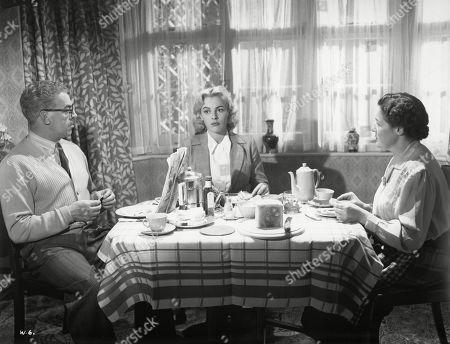 Jill Adams, as Shirley Harcourt, Eddie Byrne, as Supt. Harcourt