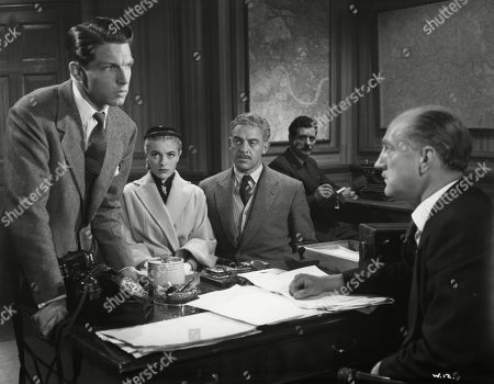 Jill Adams, as Shirley Harcourt, Eddie Byrne, as Supt. Harcourt, John Bushelle, as Ass.Commissioner, Lyndon Brook, as Leslie Parrish