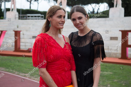 Stock Image of Amber and Yasmin Lebon