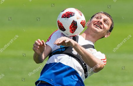 Russia player Alan Dzagoev during a training session held in Federal Sports Centre Novogorsk, Novogorsk, Russian Federation, 29 June 2018. Russia will face Spain the Round  of 16 of the FIFA World Cup 2018 on 01 July.