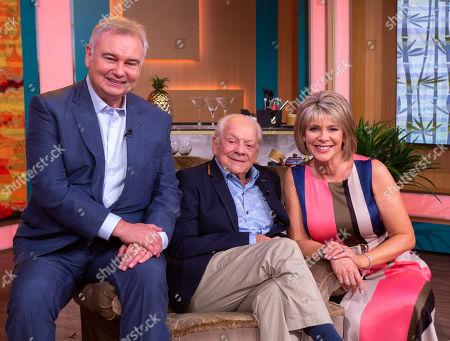 Eamonn Holmes and Ruth Langsford with David Jason
