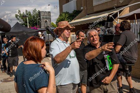 Spaish film director Jose Luis Berlanga (C) is seen during the shooting of his new film 'Viva la Vida' in Valencia, Spain, 29 June 2018.