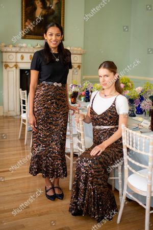 Saloni Lodha and Eugenie Niarchos