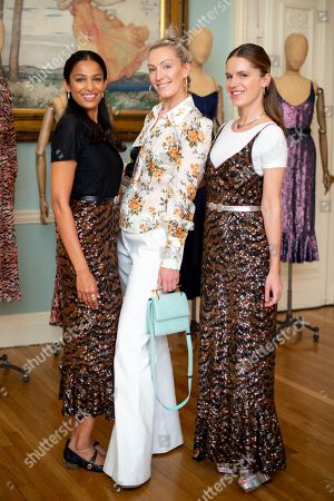 Saloni Lodha, Olivia Buckingham and Eugenie Niarchos