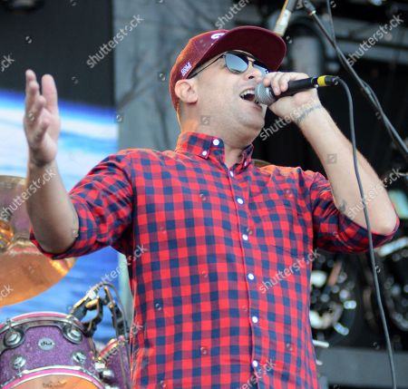 Lead singer Dryden Mitchell of the band Alien Ant Farm performs live at Henry Maier Festival Park during Summerfest in Milwaukee, Wisconsin