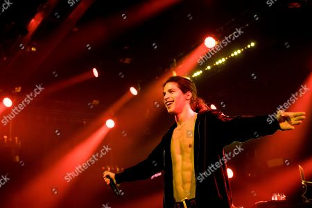 French rapper Moha La Squale performs on the stage of the Montreux Jazz Lab during the 52nd Montreux Jazz Festival, in Montreux, Switzerland, 30 June 2018. The event running from 29 June to 14 July will feature 380 concerts.