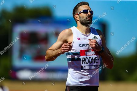 Martyn Rooney, winner of Heat 4 of the Men's 400 Metres during the Muller British Athletics Championships at Alexander Stadium, Birmingham. Picture by Toyin Oshodi