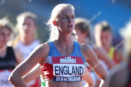 Hannah England after the women's 1500m heat