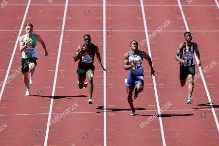 Chijindu Ujah wins the 100m semi final