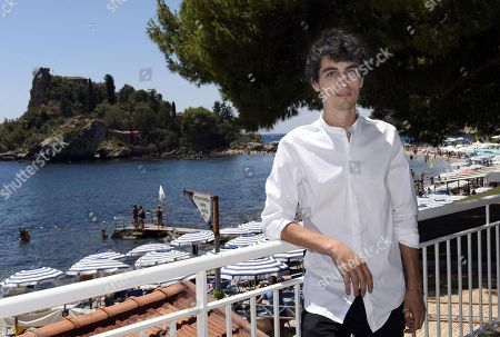 Stock Picture of Italian actor Luigi Fedele poses prior to the press conference of the 2018 Nastri d'Argento (Silver Ribbon) awards in Taormina, Sicily Island, Italy, 30 June 2018. The 'Nastri d'Argento' Awards are presented annually by Sindacato Nazionale dei Giornalisti Cinematografici Italiani (SNGCI), the association of Italian film critics and will beawarded on at the Teatro Antico on 30 June. They are the oldest film awards in Europe, given since 1946.