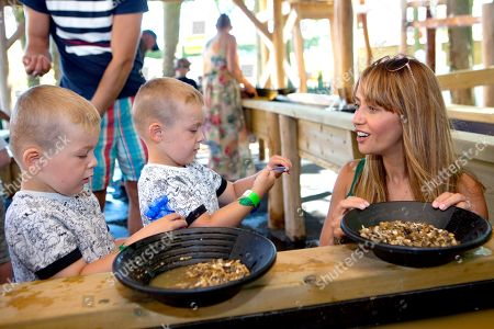 Samia Longchambon opens Adventure Land and enjoyed panning for treasure with the children