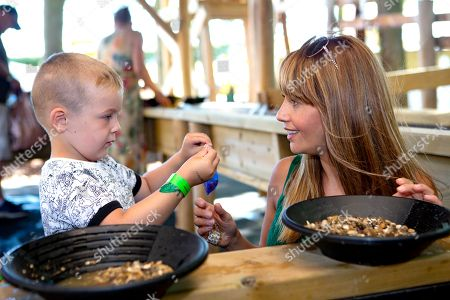 Editorial picture of Samia Ghadie opens 'Adventure Land' at Springfields Outlet, Spalding, UK - 30 Jun 2018