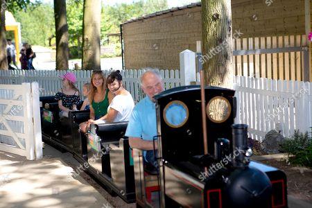 Samia Longchambon took a ride on the miniature railway