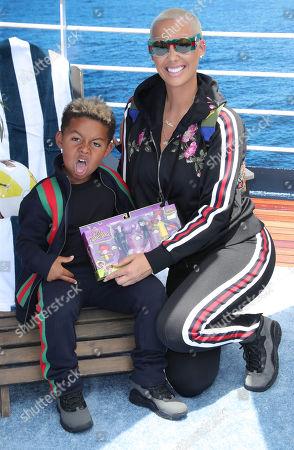 Amber Rose and son Sebastian Taylor Thomaz
