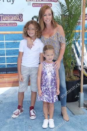 Kendra Wilkinson with children Hank Baskett Jnr and Alijah Baskett