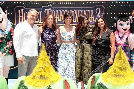 Stock Picture of Genndy Tartakovsky, Director/Writer, Molly Shannon, Selena Gomez, Kathryn Hahn and Michelle Murdocca, Producer,