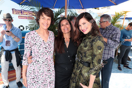 Kristine Belson, President, Sony Pictures Animation, Michelle Murdocca, Producer, and Kathryn Hahn