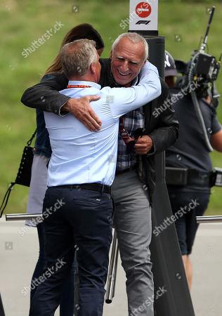 30.06.2018, Red-Bull-Ring, Spielberg, Formula 1 EYETIME Grand Prix of  OESTERREICH 2018,  29.06. - 01.07.2018  ,  Jonny Herbert, Dietrich Mateschitz (Red Bull)