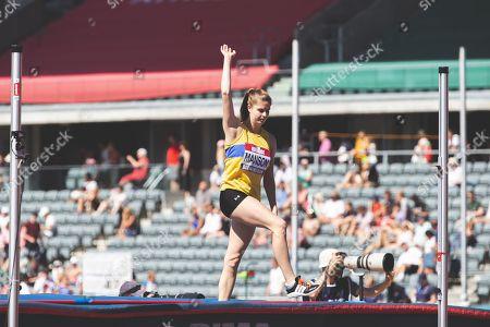 Nikki Manson in the Womens High Jump Final