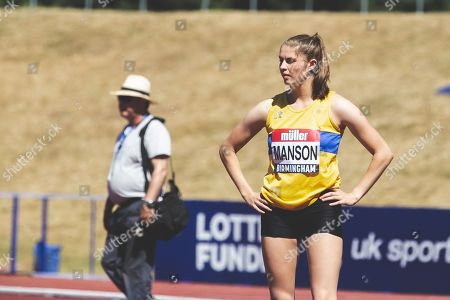 Stock Image of Nikki Manson in the Womens High Jump Final