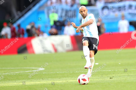 Javier Mascherano (ARG) during the  FIFA World Cup Russia 2018 round of 16 match between France v Argentina