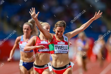 Stephanie Twell wins the Women's 5000 Metres Final  during the Muller British Athletics Championships at Alexander Stadium, Birmingham. Picture by Toyin Oshodi