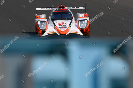 Stock Picture of The #54 CORE autosport, ORECA LMP2 driven by Jonathan Bennett, of the Untied States, Colin Braun, of the United States and Romain Dumas, of France during the IMSA WeatherTech SportsCar Championship Sahlen's Six Hours of The Glen on at Watkins Glen International in Watkins Glen, New York