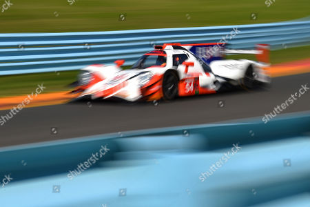 Stock Photo of The #54 CORE autosport, ORECA LMP2 driven by Jonathan Bennett, of the Untied States, Colin Braun, of the United States and Romain Dumas, of France during the IMSA WeatherTech SportsCar Championship Sahlen's Six Hours of The Glen on at Watkins Glen International in Watkins Glen, New York