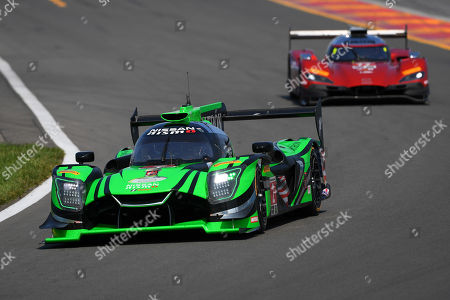 The #2 Tequila Patron ESM, Nissan DPi driven by Scott Sharp, of the United States, Ryan Dalziel, of Great Britain and Olivier Pla, of France prior to the IMSA WeatherTech SportsCar Championship Sahlen's Six Hours of The Glen on at Watkins Glen International in Watkins Glen, New York