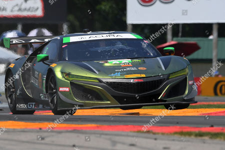 Stock Image of The #36 CJ Wilson Racing, Acura NSX GT3 driven by Marc Miller, of the United States and Till Bechtolsheimer, of Great Britain during the IMSA WeatherTech SportsCar Championship Sahlen's Six Hours of The Glen on at Watkins Glen International in Watkins Glen, New York